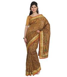 Buy Yellow woven pure cotton saree with blouse all-seasons-saree online