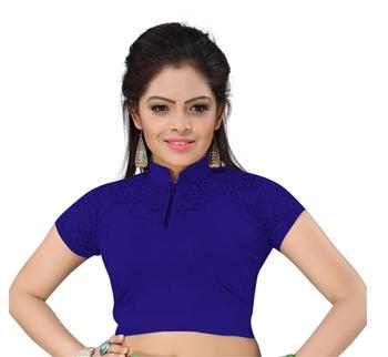 36cb05e631c9a Buy Nevyblue cotton lycra plain stitched blouse Online