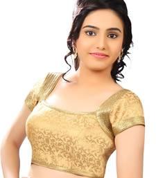 Buy gold brocade jari unstitched blouse women-ethnic-wear online