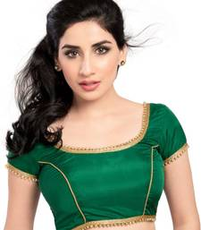 green tapeta silk lace unstitched blouse