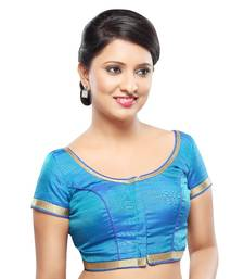 blue banglory lace unstitched blouse