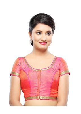 pink banglory lace unstitched blouse