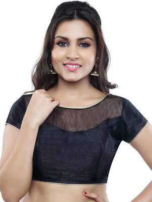 black banglory net unstitched blouse