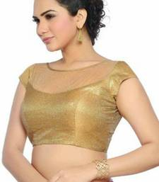 gold shimmer net unstitched blouse