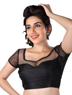 black banglory net unstitched blouse
