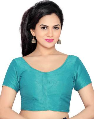 sky blue banglory lace unstitched blouse