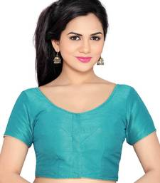 sky blue banglory lace unstitched blouse