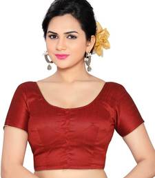 maroon banglory lace unstitched blouse