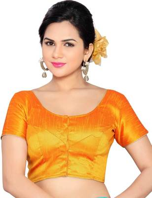 mustard banglory lace unstitched blouse