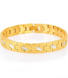 Creative Gold and Rhodium Plated Bracelet For Men