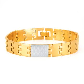 Sleek Gold and Rhodium Plated Bracelet For Men
