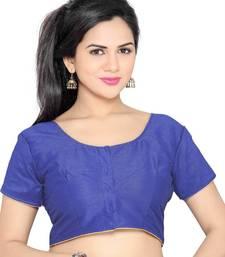 blue banglory lace unstitched blouse