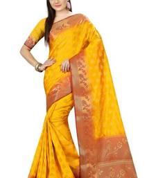 Buy Mustard printed nylon saree with blouse other-saree online