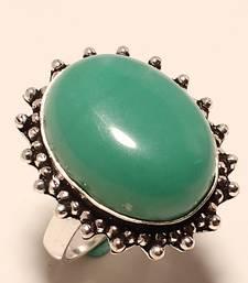 Buy Green onyx gemstone 925 silver ring 8 gemstone-ring online