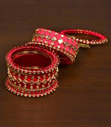 Silk thread with Zircon Stone worked Bangle Set for Women