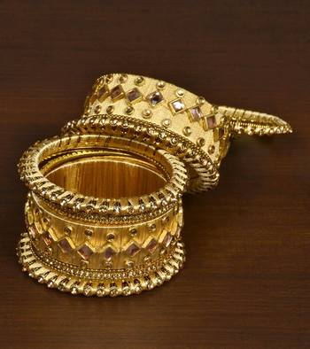 Silk thread with Zircon Stone worked Bangle Set for Women