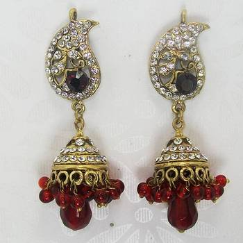 Victorian Earring Red Jhumar