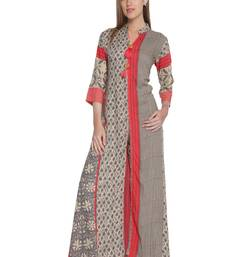 Buy Multicolor printed rayon stitched kurti kurtas-and-kurtis online