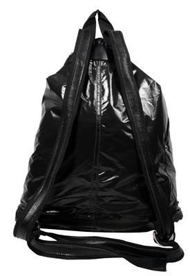 Just Women - Classy Black Colour PU Leather Handbag