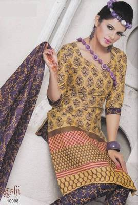 Dress material cotton designer prints unstitched salwar kameez suit d.no 10008  Prints