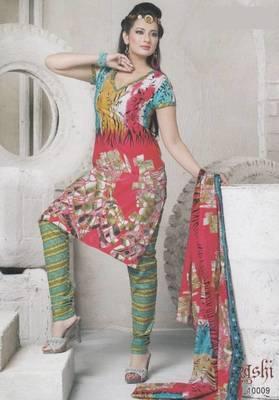 Dress material cotton designer prints unstitched salwar kameez suit d.no 10009 Prints