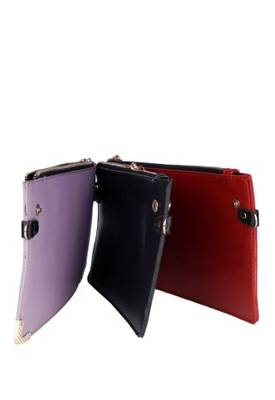Just Women - Elegant Purple PU Leather Hand Purse