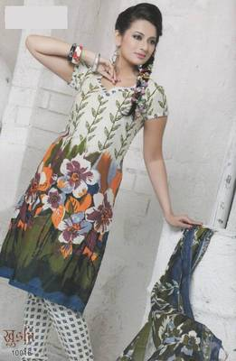 Dress material cotton designer prints unstitched salwar kameez suit d.no 10016 Prints
