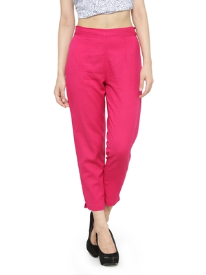 Indibelle Pink Straighrt Trouser