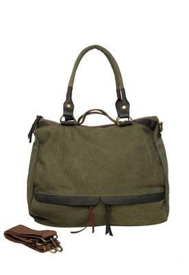 Just Women - Lovely Light Olive Canvas Handbag