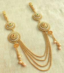 Buy Kundan Multi Colour Double Juda Waist Belly Hip Chain Belt Kamarband Keychain Ethnic Wedding Jewelry waist-belt online