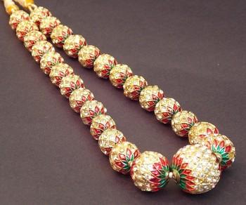 Ethnic Meenakari And Zircon Kantha Necklace