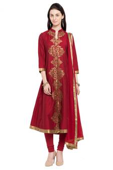 eaa1bc6c1ff Progress 4cc28d84d76fcb9210fe43f7ac15eb975cd0845b972ae4a79b1d0ad72de0bd8e.  Maroon embroidered cotton salwar with dupatta