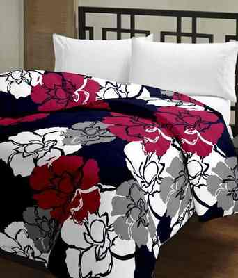 eCraftIndia Floral Printed Single Bed Reversible AC Blanket