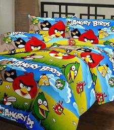 eCraftIndia Angry Birds Kids Single Bed Reversible AC Blanket