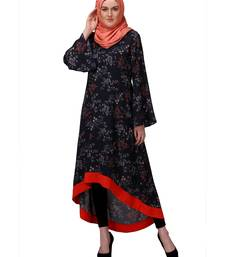 Buy Blue poly moss stitched tunics tunic online