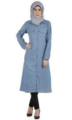 Blue denim stitched dresses