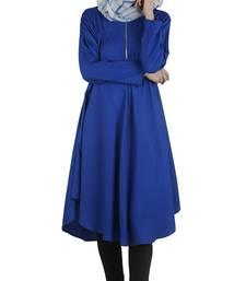 Royal blue rayon stitched tunics