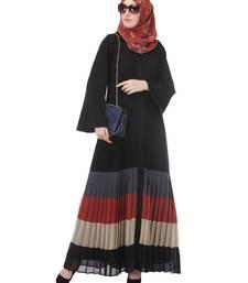 Buy Black heather moss stitched abaya abaya online
