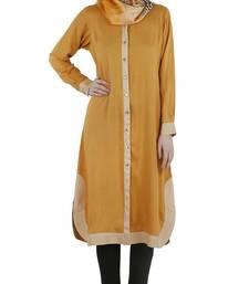 Mustard rayon stitched tunics