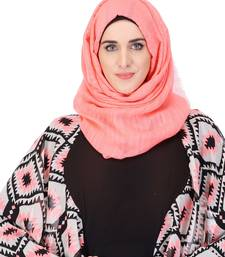 Buy Soft sorbet peach casual viscose hijab hijab online