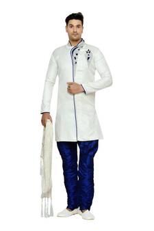 20105f42cac93 Indian poshakh off white semi indo brocket sherwani · Shop Now