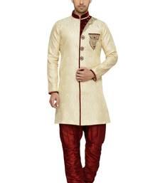 Indian Poshakh Gold Semi Indo Brocket Indo Western