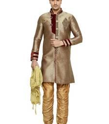 Buy Indian poshakh antique semi indo brocket kurta pajama wedding-sherwani online