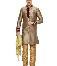 Buy Indian poshakh antique semi indo brocket kurta pajama kurta-pajama online