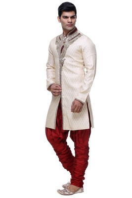 Indian poshakh gold broket kurta pajama