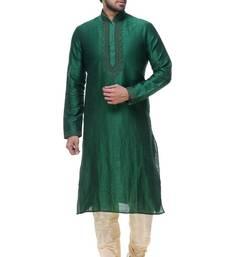 Indian Poshakh Green Art Silk Kurta Pajama