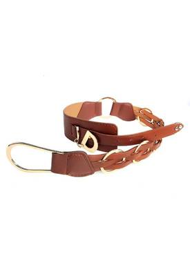 Just Women - Lovely Saddle Brown Womens Leather Belt