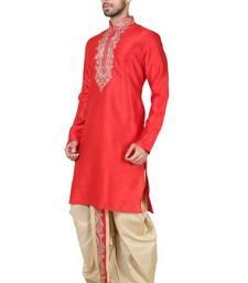 Indian poshakh maroon bangalore silk kurta pajama
