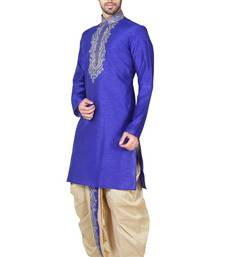 Indian Poshakh Royal Blue Bangalore Silk Kurta Pajama