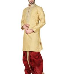 Indian Poshakh Gold Bangalore Silk Kurta Pajama